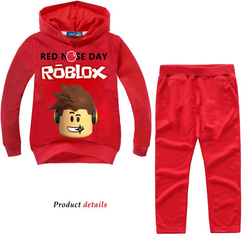 Red Nose Day Roblox Hoodie & Pants Set (Assorted Colors 2T-8)