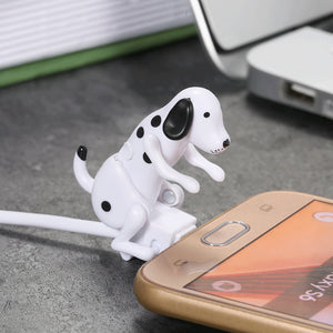Newest Top sale Mini Humping Cute Spot Dog Toy Smartphone Cable Charger Data 1M