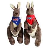 Brand BOHS Australia Soft Stuffed   Plush Animals  Kangaroo Parents Family Toy 30cm Height