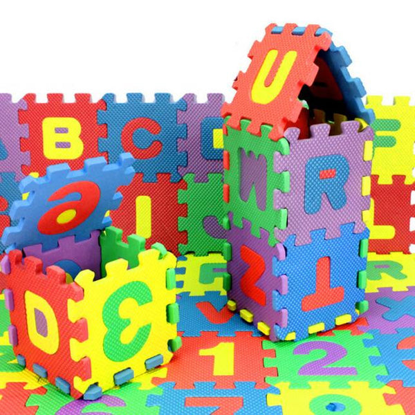 36Pcs Number/Alphabet Foam Puzzle Mat