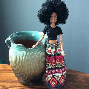 African Plastic Doll