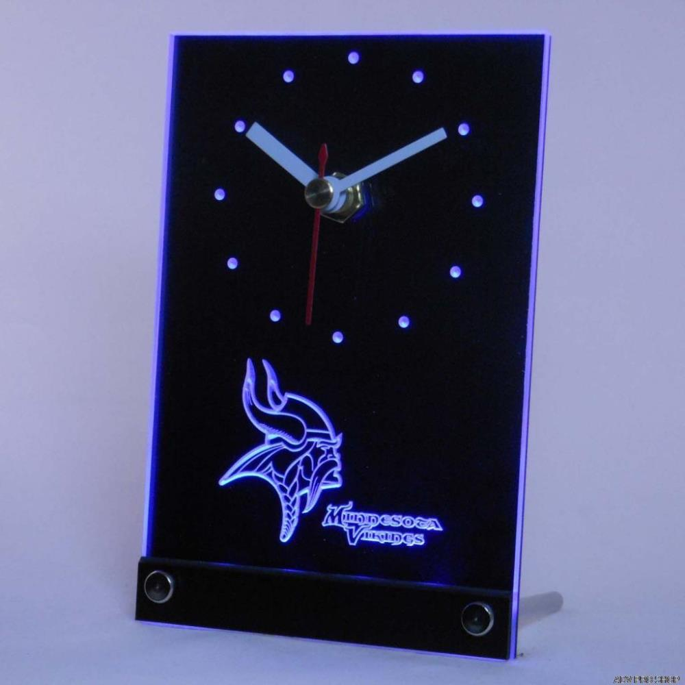 Vikings Table Desk 3D LED Clock