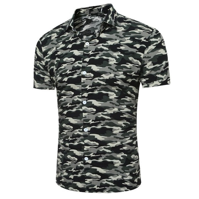 Camouflage Casual Short Sleeve