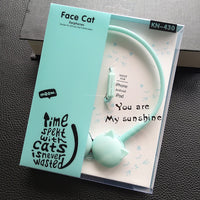 Cute Cat Colored Stereo Headphones