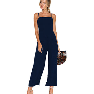 Sleeveless Summer Boot Cut Jumpsuit (Assorted Colors)