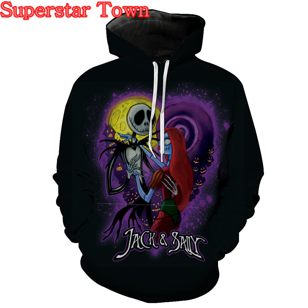 The Nightmare Before Christmas Sally Jack Skellington Sweatshirt Female Hoodie Pullover