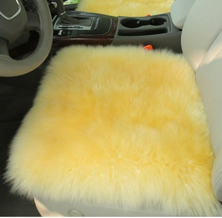 Australia Sheepskin luxury fur cushion /wool covers for car seat inner decorative throw cushion sofa