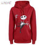 Fashion Christmas Hoodie Sweatshirt The Nightmare Before Christmas Jack Print Pullover Hoodie Long Sleeve drawstring Tracksuit