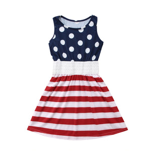 Girls Polka Dots & Stripes Dress (3T-6)
