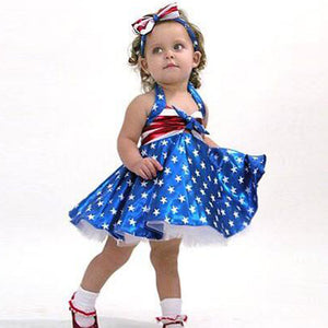 Toddler Stripes & Stars Bow Dress (12M-4T)
