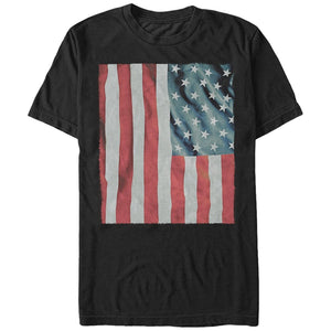 Waving American Flag Men's Graphic T Shirt