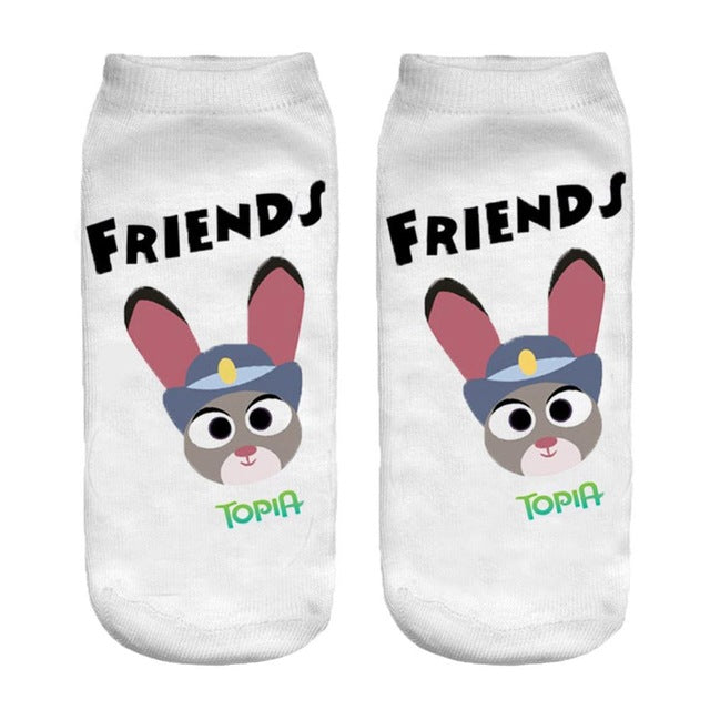 Character Low Cut Ankle Socks (Assorted Designs)