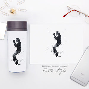 300ml BPA Free Plastic Insulated MJ Water Bottle