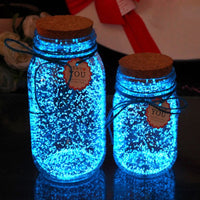 10g Glow in the dark Particles Luminous Party DIY Bright Paint Star Wishing Bottle Fluorescent Particles Kids Funny toys