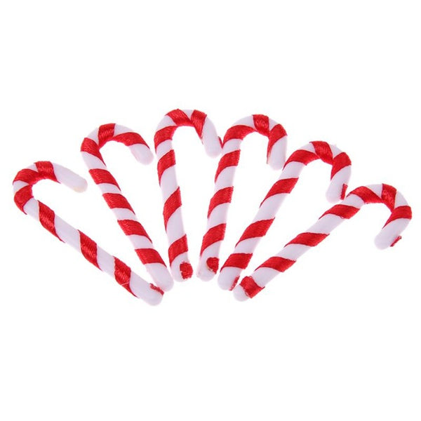 50Pcs/lot Candy Crutch Christmas Tree Decor Hanging Ornament Christmas Decoration for Home New Year Products Xmas Gifts