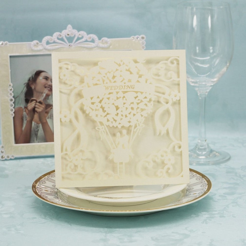 20PCS/SET Beautiful Luxurious Hollow Out Lace Invitation Cards