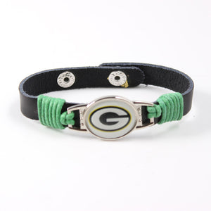 American Football Leather Bracelet (More Assorted Teams)