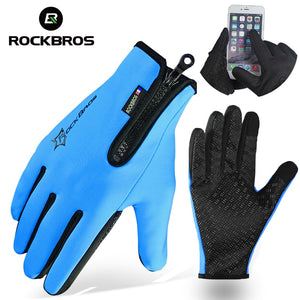 ROCKBROS Fleece Thermal Warm Bike Bicycle Sport Gloves for smartphones