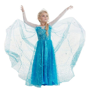 Girls Elsa Princess Costume