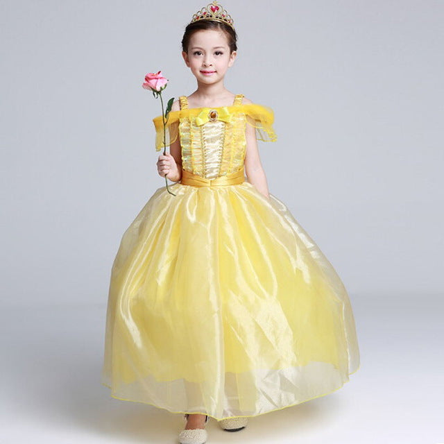 Girls Belle Princess Costume