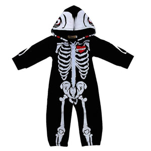 Baby Skeleton Printed Long Sleeve Jumpsuit