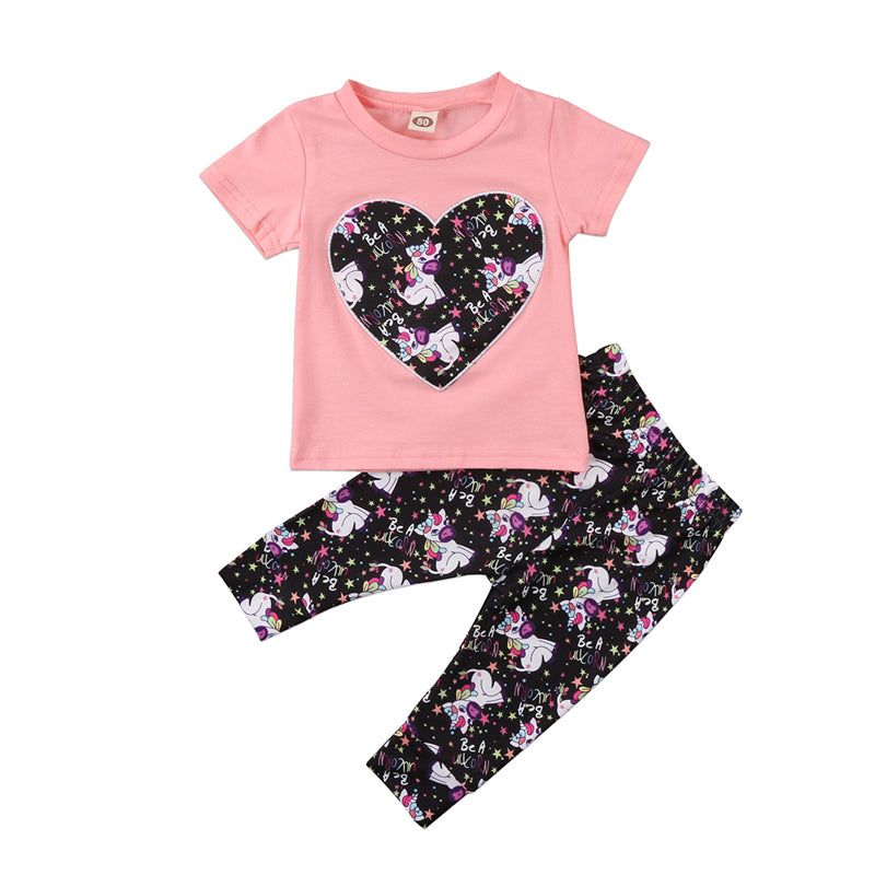 Unicorn Tee & Pants Outfit