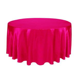 10pcs  120 Inch Round Satin Tablecloths  Table Cover for Wedding Party Restaurant Banquet Decorations
