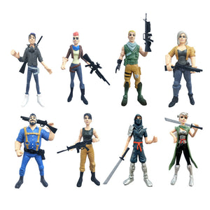 8Pcs/lot Fortnite Inspired Action Figures