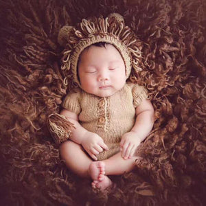 Newborn Knitted Lion Photo Prop Costume