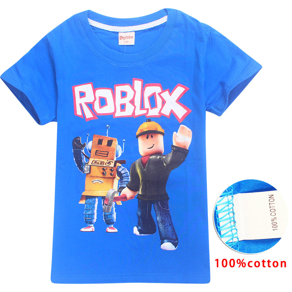 Kids Roblox Mr Robot Short Sleeve T-Shirt (Assorted Colors)