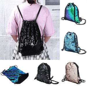 Aelicy Double Color Sequins Drawstring Bag
