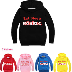 Eat Sleep Roblox Hoodie Sweatshirt ( Assorted Colors 2T-14)