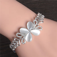 MISANANRYNE Hot Silver Color Cute Butterfly Austrian Crystal Beautiful Womens Bracelet