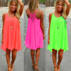 Beautiful Fluorescent Beach Dress (Assorted Colors)