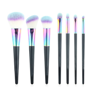 Black Mermaid Rainbow Feather Brush Set