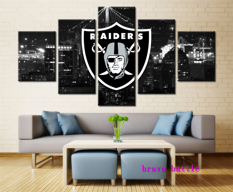 Raiders 5PC Canvas Set