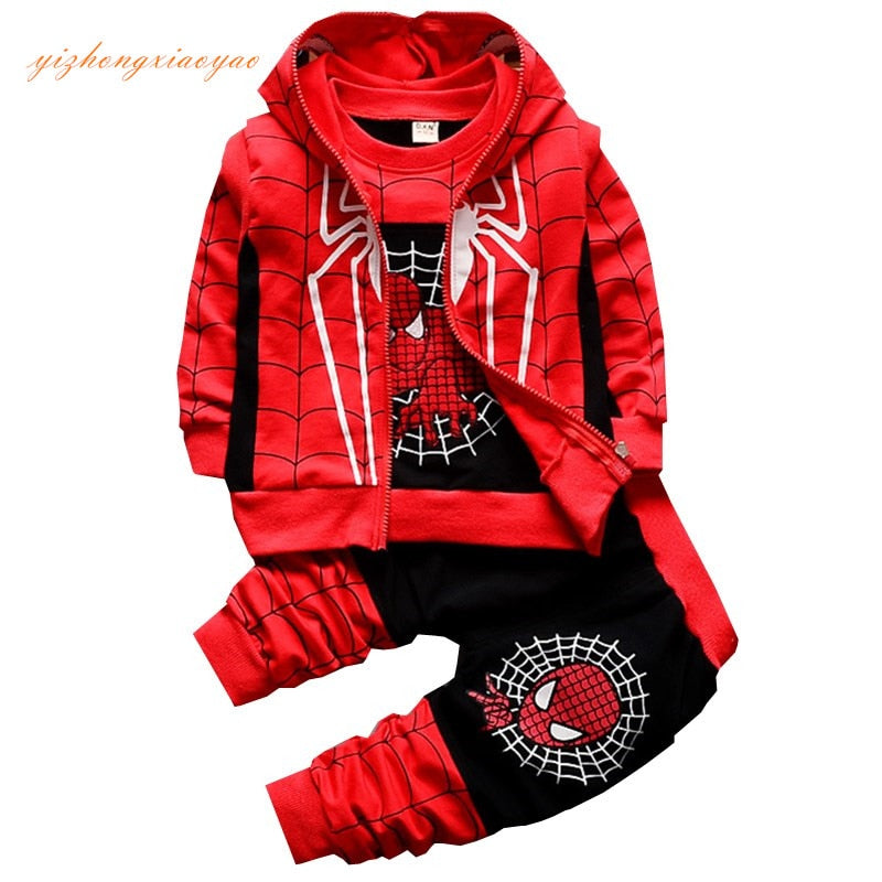 3PC Spiderman Hoodie Outfit (2 Color Options)