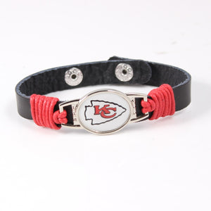 American Football Leather Bracelet (Assorted Teams)