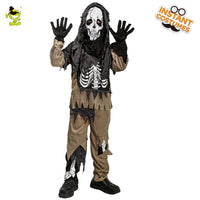 Boys Skeleton Ghost Costume