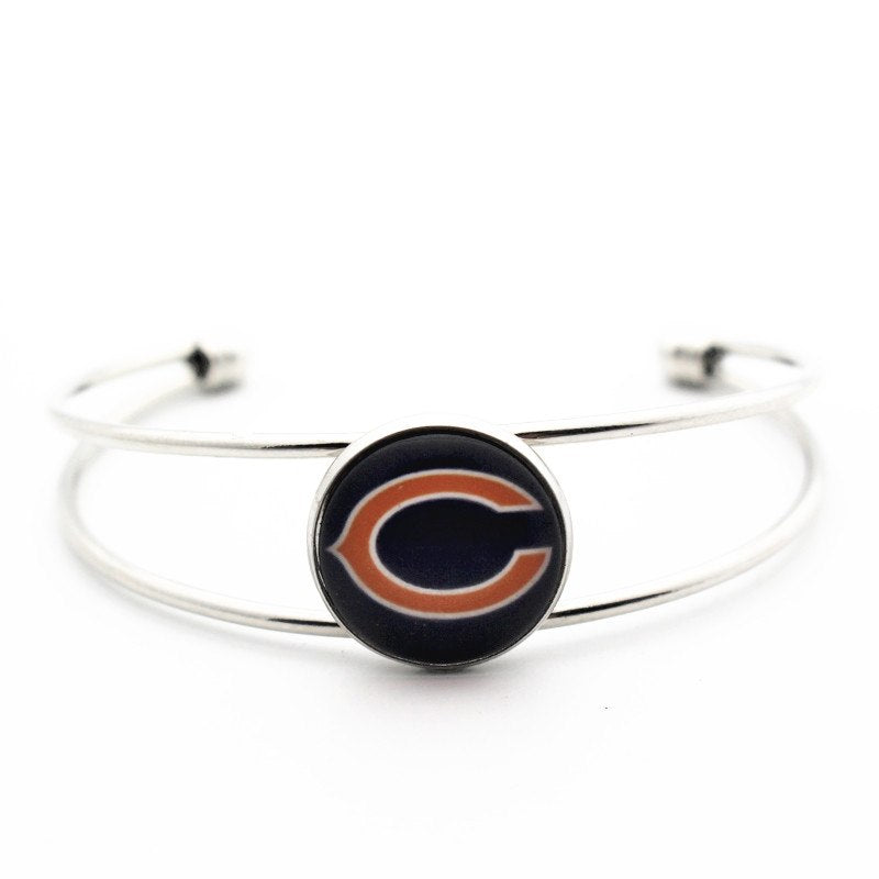 Bears Glass Print Bangle Bracelet