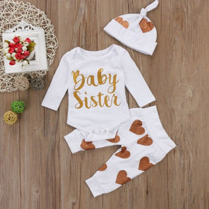 3PC Baby Sister Love Outfit