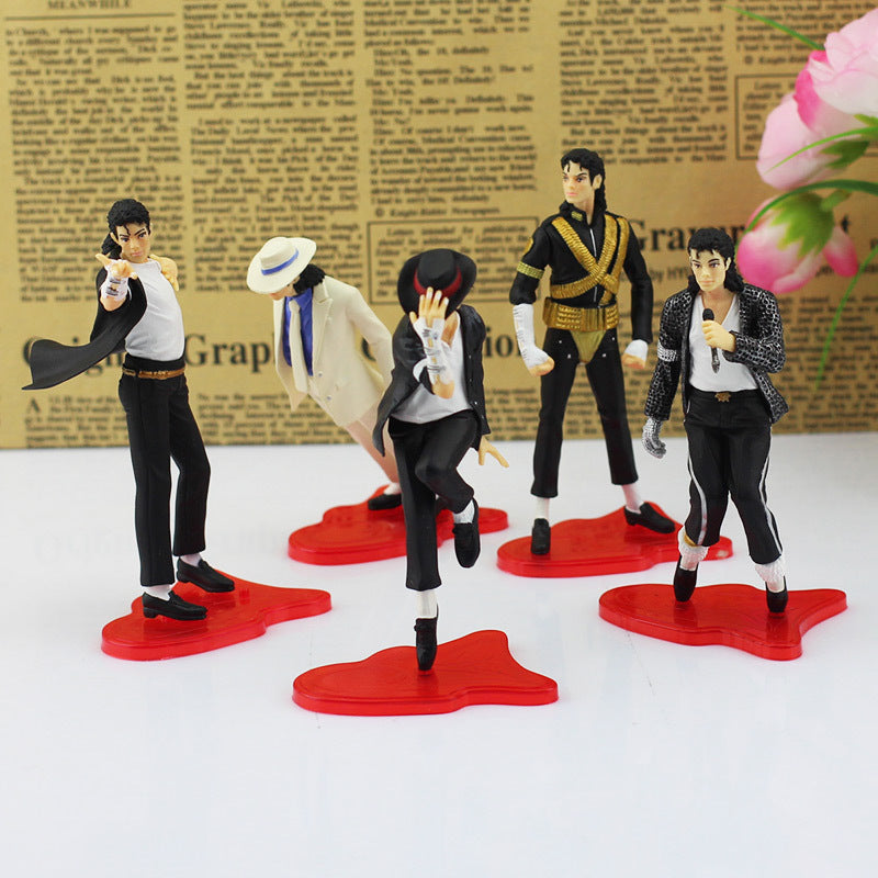 "5Pcs/Set 4"" MJ Action Figure Dolls"
