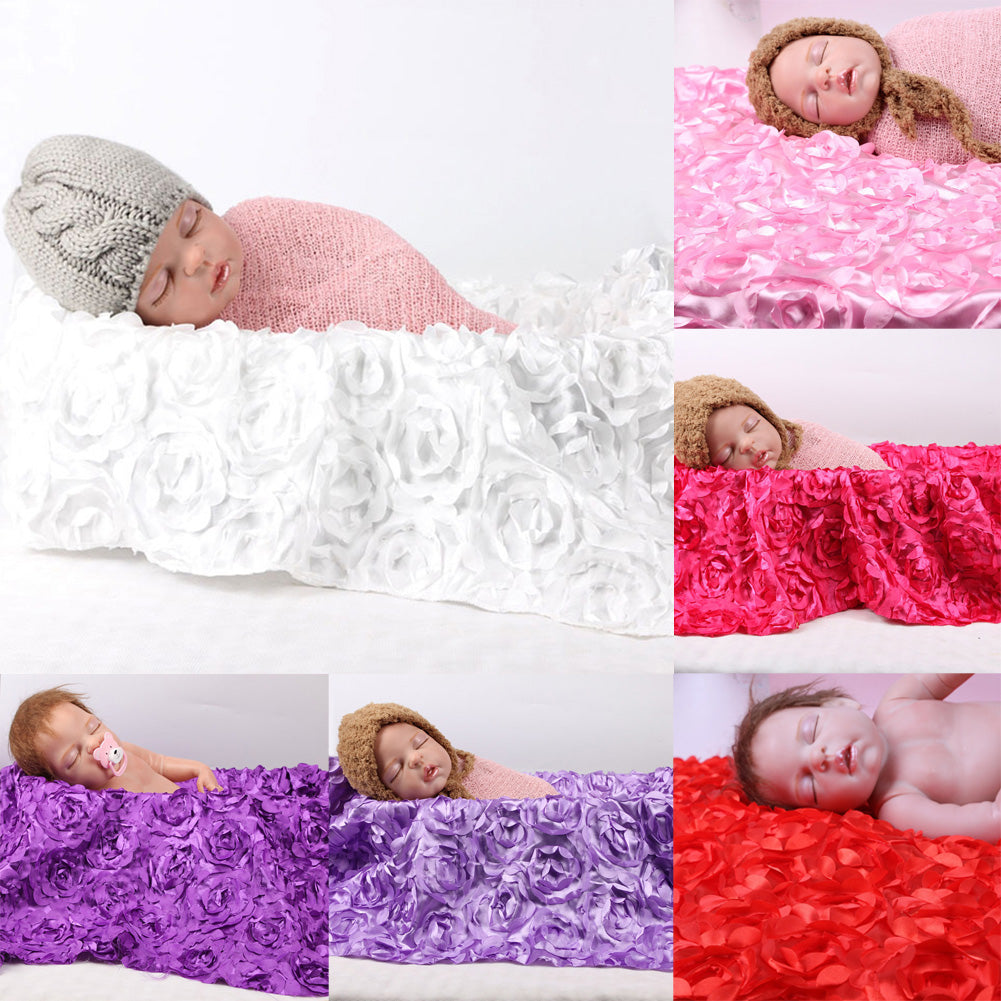 3D Rose Flower Blanket Photo Prop
