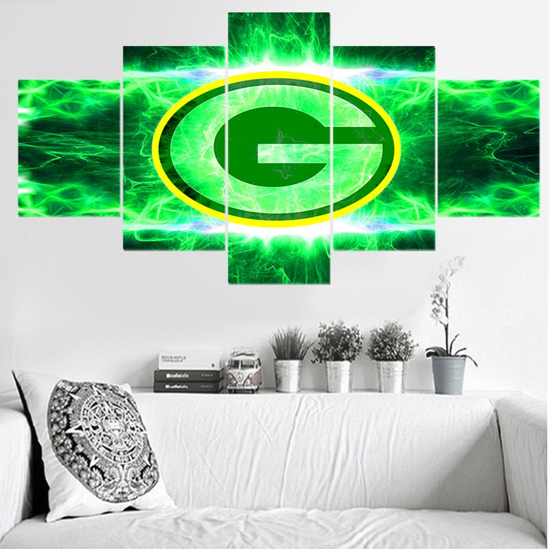 5PC Packers Lightning Canvas Set