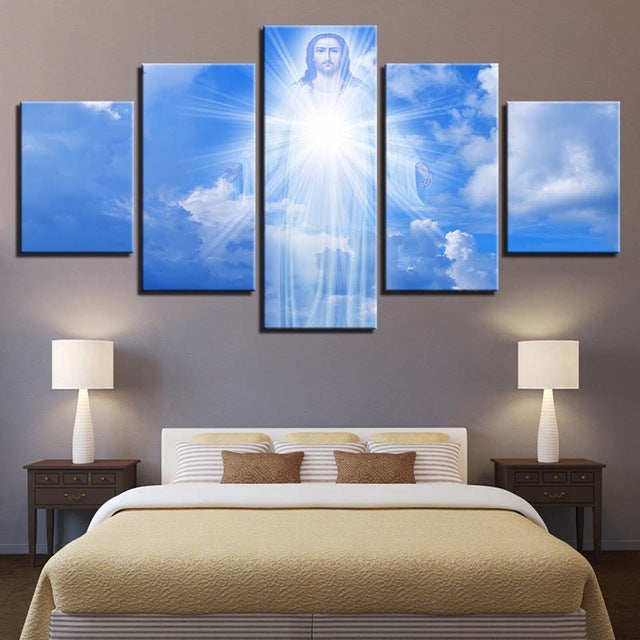 Canvas Wall Art Pictures HD Prints 5 Pieces Jesus Is Coming Paintings