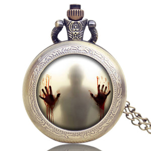 Men's Pocket Watch, Walking Dead Theme Quartz Pocket Watches,