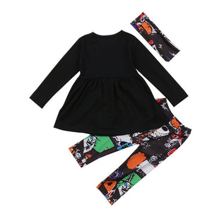 Halloween 3PCS Toddler TNBC Outfit