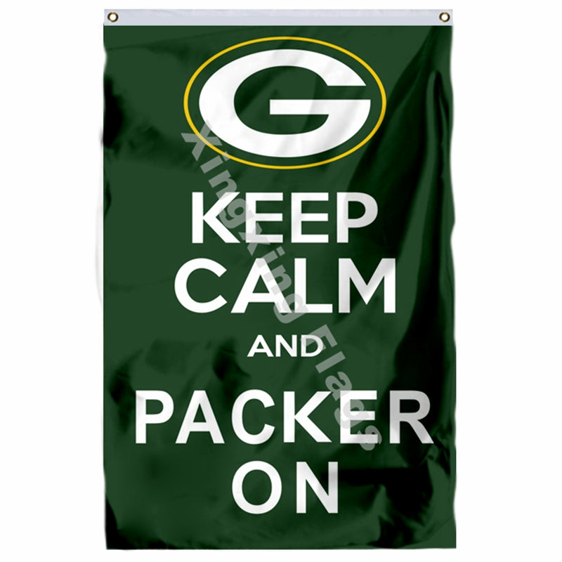 "Packers ""Keep Calm and Packer On"" 3ft X 5ft Polyester Flag"