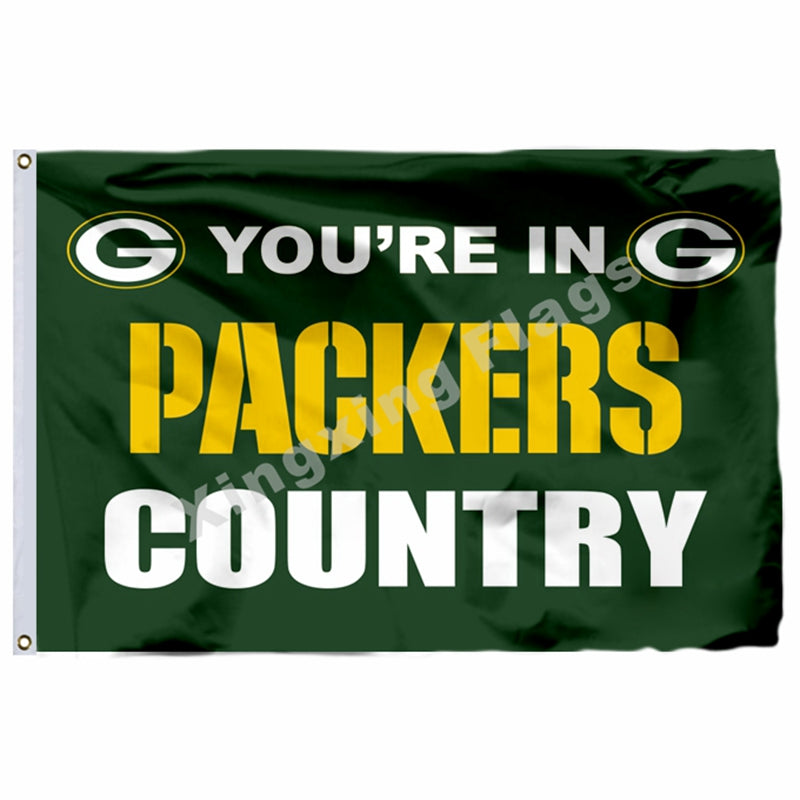 You're In Packers Country Flag 3ft X 5ft Polyester