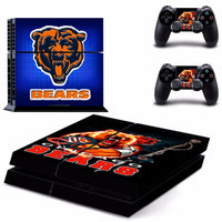 Chicago Bears PS4 Skin Sticker Decal for Sony PlayStation 4 Console and 2 controller skins PS4 Stickers Vinyl Accessory